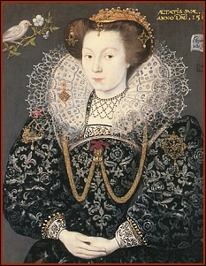 Elizabeth Brydges, Age 14, by Custodis 1589