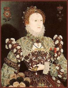 Elizabeth I - The Pelican Portrait by Hilliard c. 1575